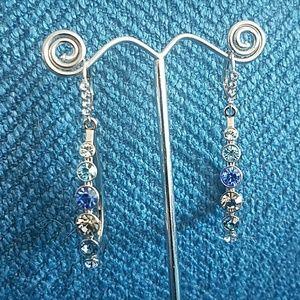 Jewelmint Rhinestone Teardrop Hoops